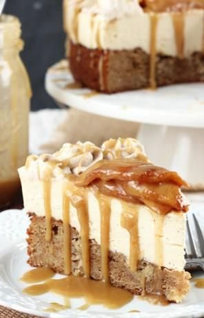 Caramel Apple Blondie Cheesecake    There plenty of ways to bake a blondie and even more ways to bake a cheesecake, but there's certainly only one way to make a decadent dessert combining both. This caramel apple blondie cheesecake is utterly adorable with layers of goodness: apple and spice blondie layer, cheesecake layer and apples with caramels. This is a […]  Continue reading...    The post  Caramel Apple Blondie Cheesecake  appeared first on  All The Food That's Fit To Eat .