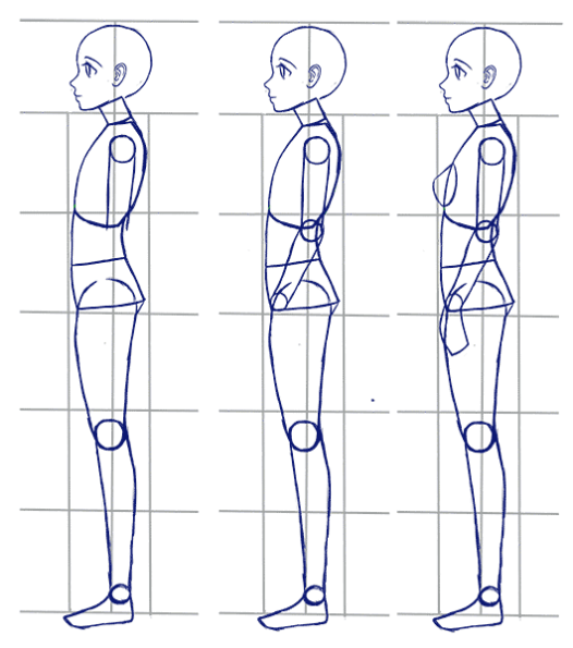 How To Draw Anime Side View Full Body Profile Manga Tuts Anime Side View Body Reference Drawing Anime Drawings
