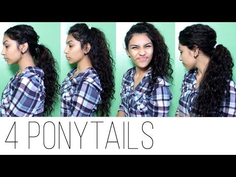 4 Ponytail Hairstyles (Curly Penny) - YouTube