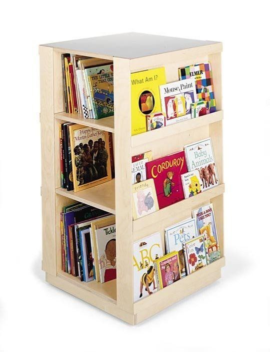 Space Saving Idea Revolving Bookcases Kids Book Storage Childrens Bookcase Kids Bookcase