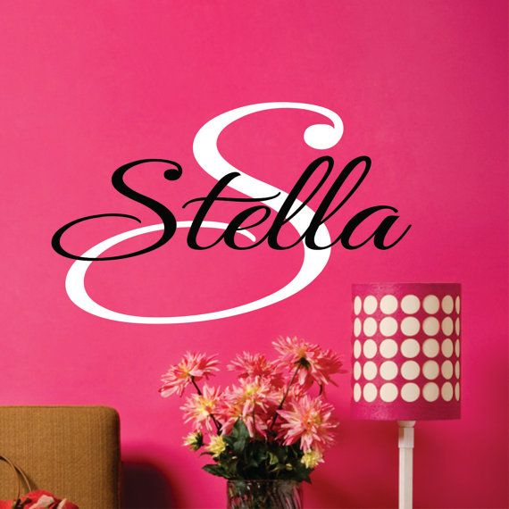 Personalized Childrens Wall Decal   Teen Decal   Girls Name Vinyl Decal