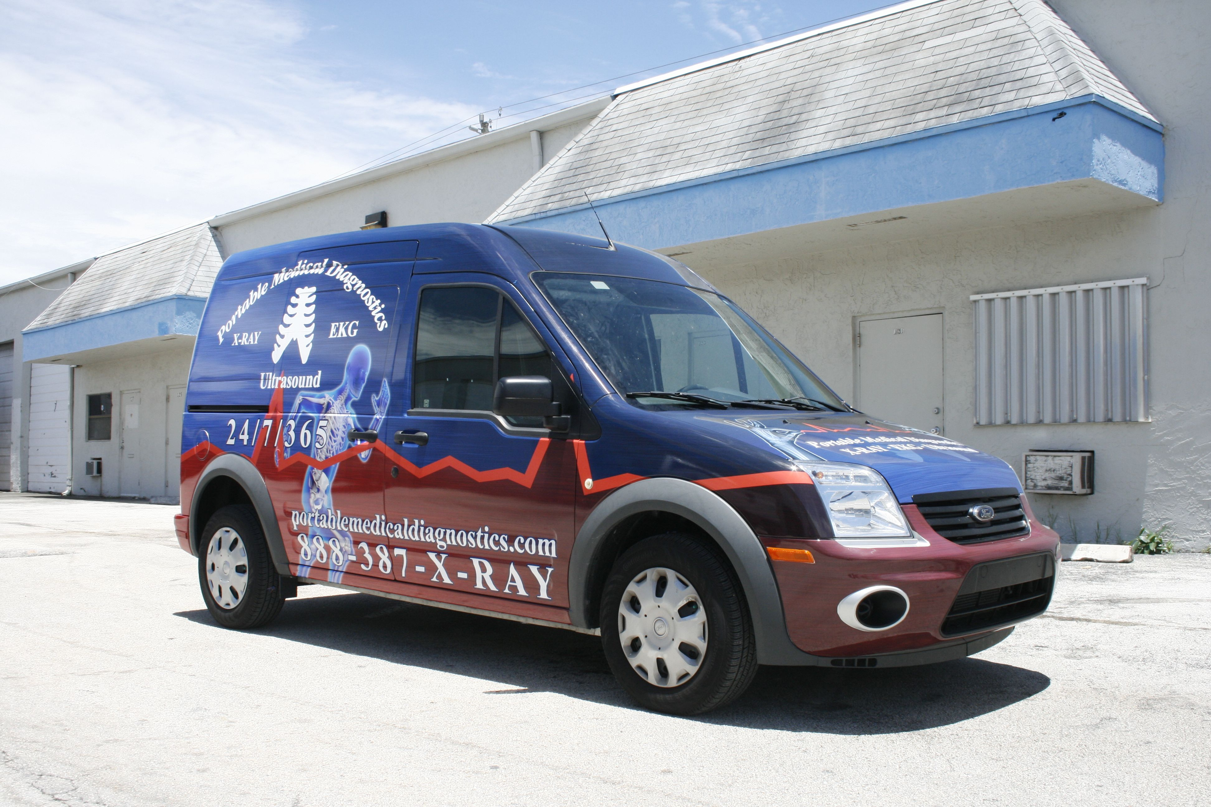 Ford transit connect van vehicle wrap advertising west palm beach florida http www