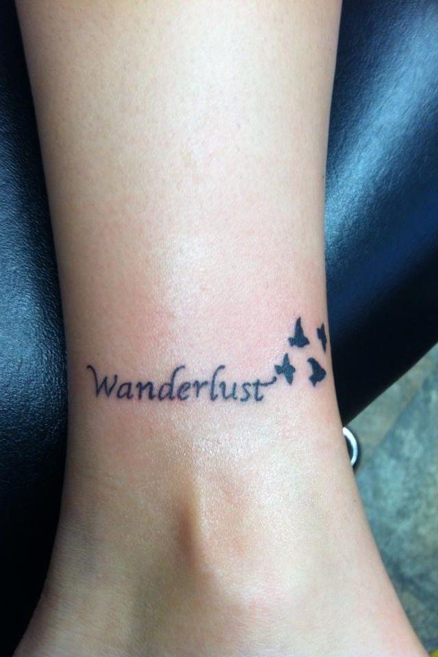 My Wanderlust Tattoo In Love Tattoo Tatuajes Wanderlust