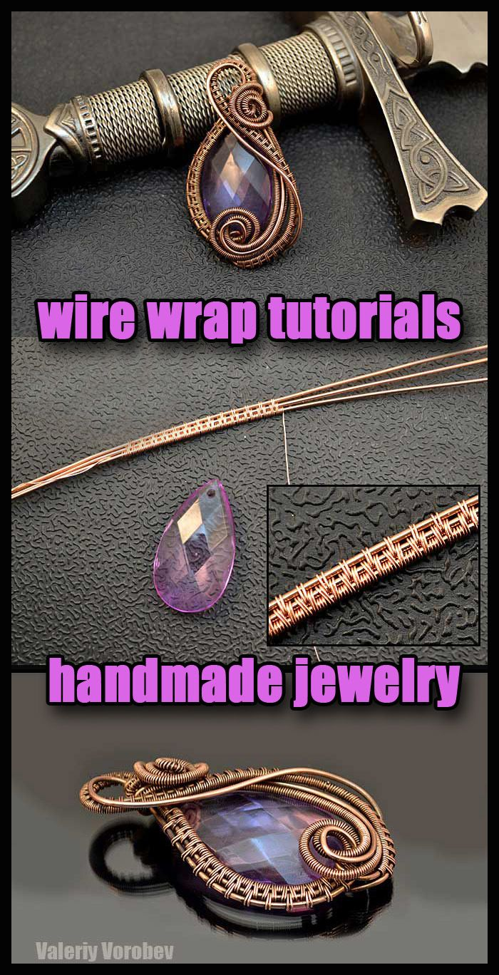 How to make wire wrapped pendant step by step. DIY, wire wrap tutorials, wire wrap, wire wrapped, wire jewelry, handmade