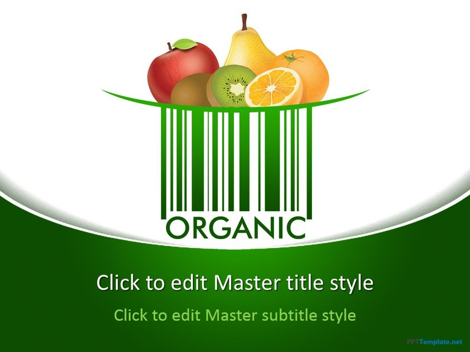 Free Organic Ppt Template Food Ppt Templates Pinterest Ppt