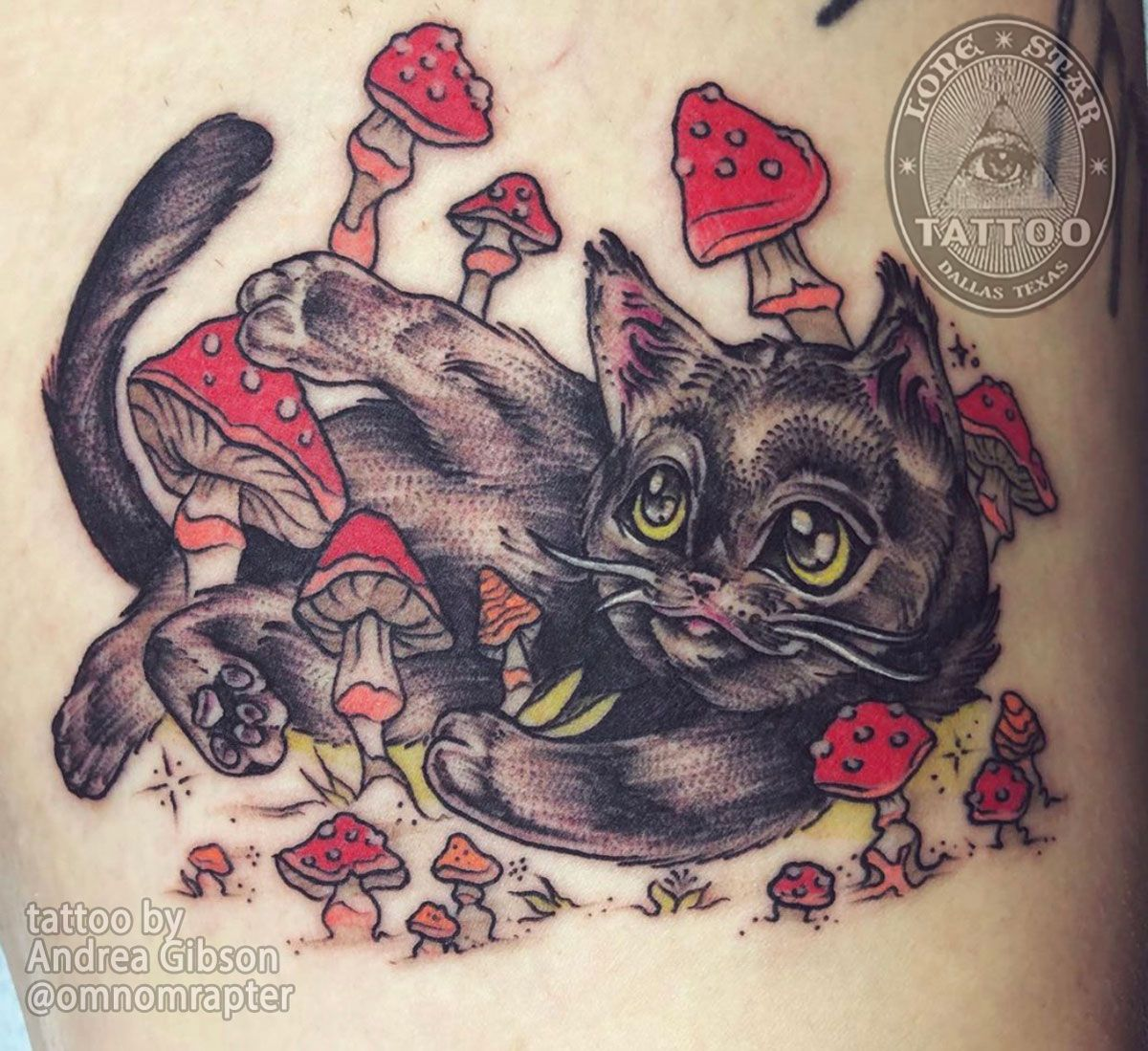 Traditional Cat Tattoo By Andrea Gibson Of Lone Star Tattoo Dallas Texas Nel 2020