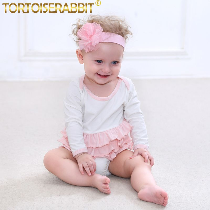 568b9b621 Click to Buy    Baby Girls Bodysuits Babies Ruffle Layered Overalls ...
