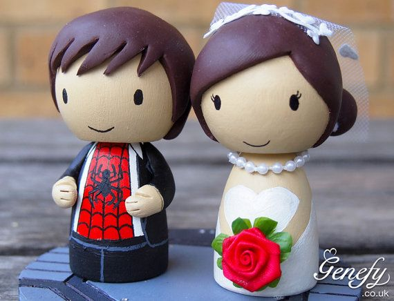 superhero wedding cake topper wedding cake topper and groom 20609