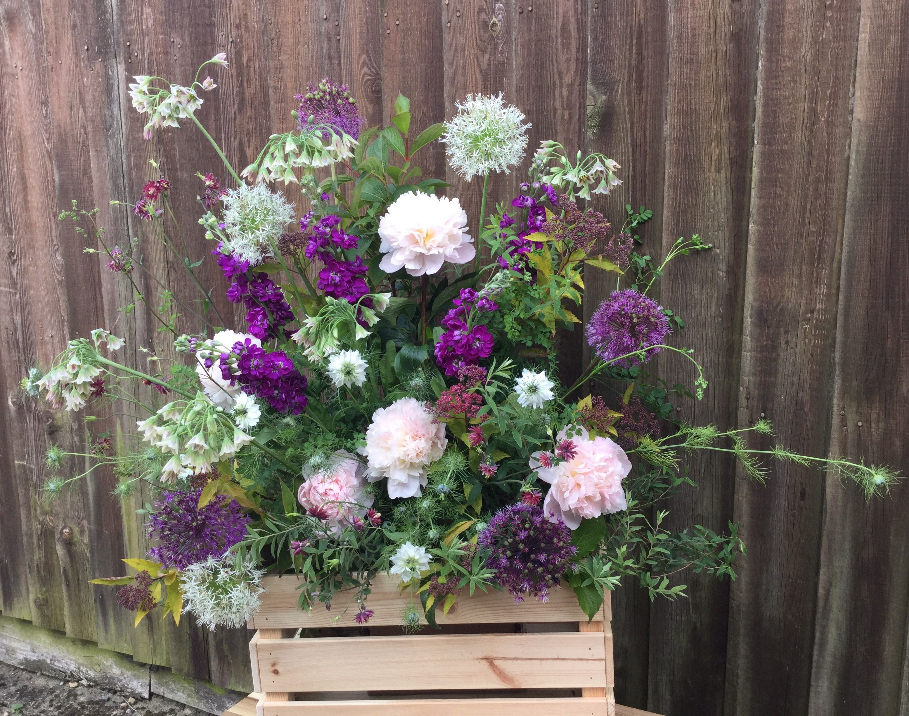 Crate Of British Spring Flowers By Jane Farthing Daphne Doreen