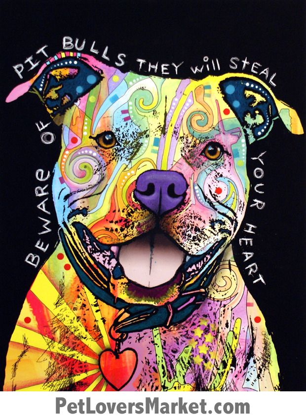 Pitbull Art Beware Of Pit Bulls They Will Steal Your Heart