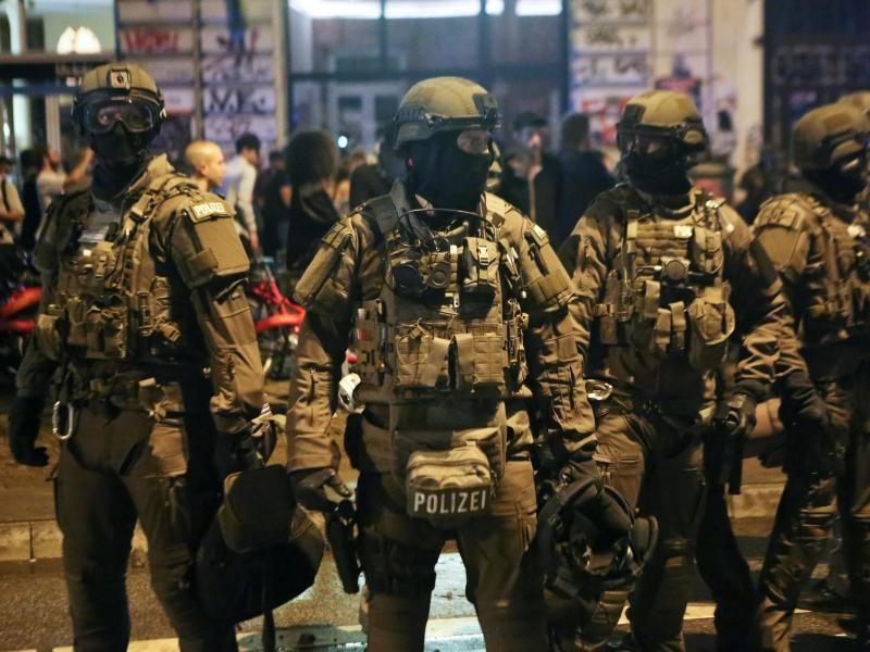 Police Special Forces G20 2017 Hamburg Germany Sek
