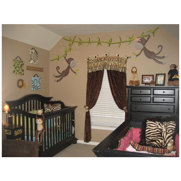 Welcome To Our Jungle Boy/Girl Twins Room   Nursery Designs   Decorating  Ideas