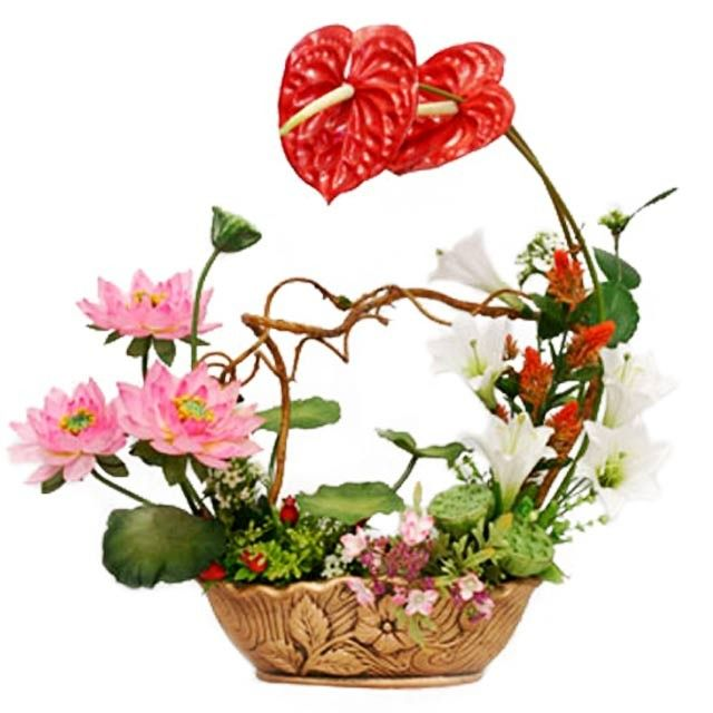 Korean flower arrangement orient express anthuriun and
