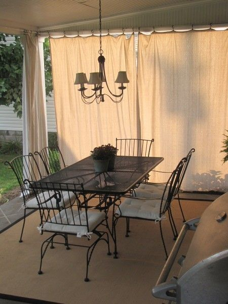 Back Porch Curtains DIY With Pvc Pipe Drop Cloth And Shower Curtain Rings Great For The Patio Durable Rough Weather