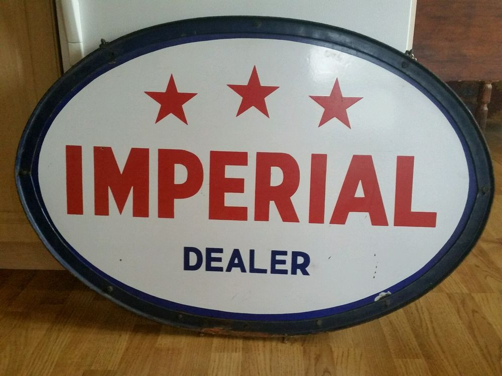 Vintage advertising imperial oil gas station sign 40 large