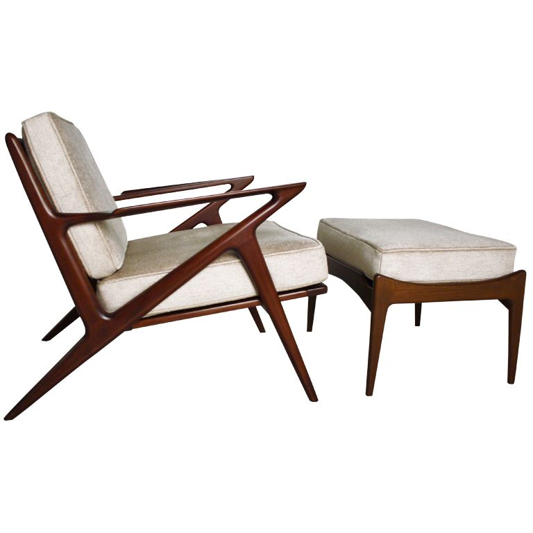 Poul Jansen Selig Z Chair And Ottoman From A Unique Collection