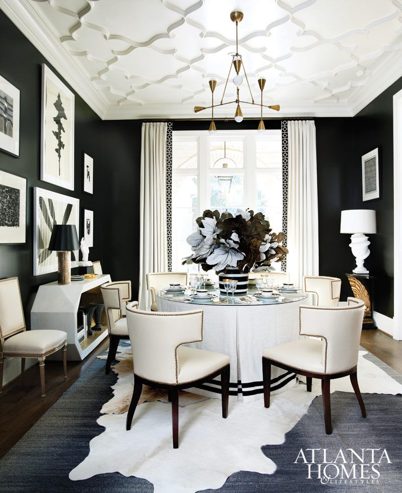 Sensational Style Transitional Dining Room Black And White