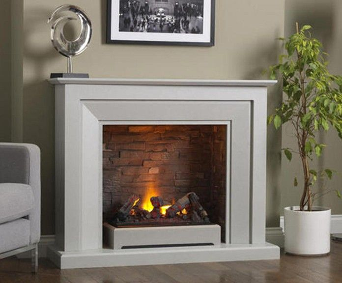 Napoli Free Standing Electric Fire Suite Fireplace In