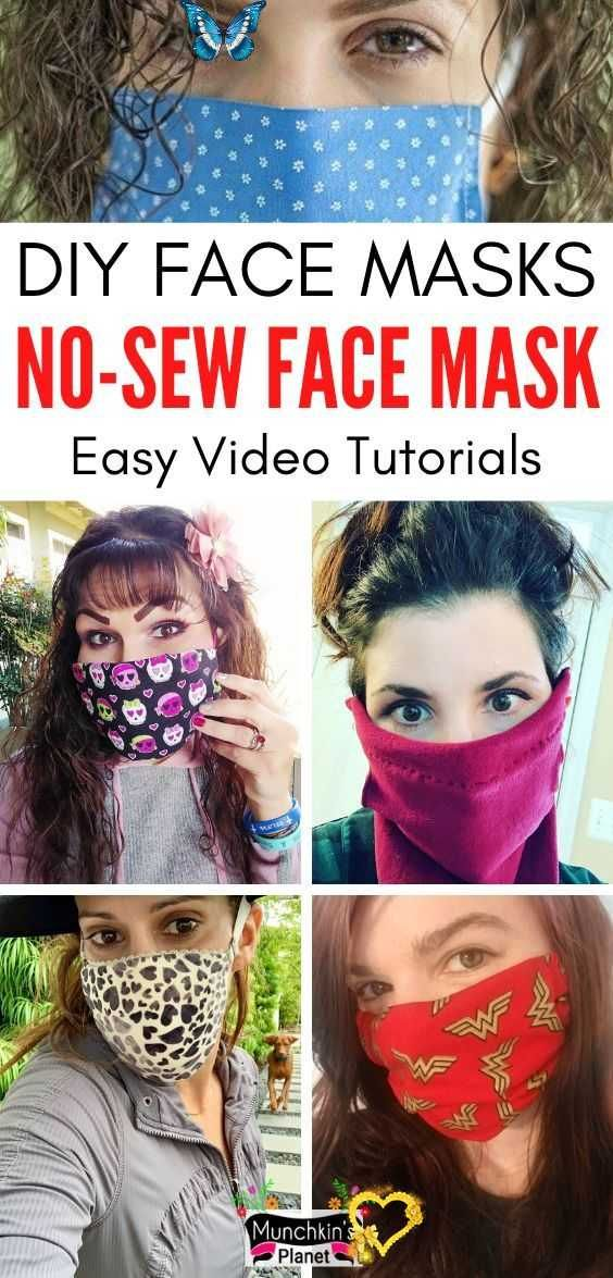 Homemade Face Masks 7 NoSew DIY Ideas Learn how to make