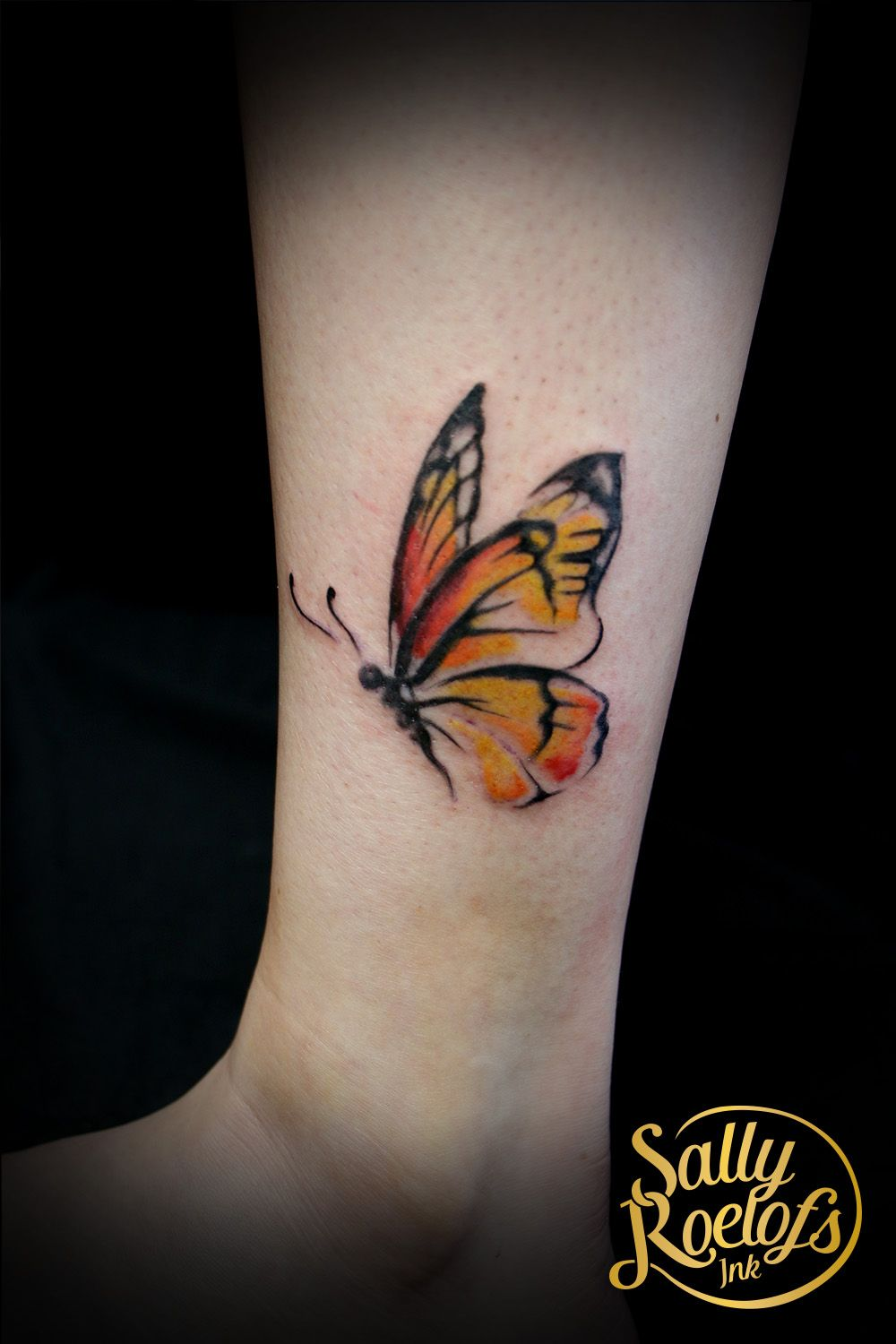 Watercolor Flower Moth Tattoo My Precious Ink: Would Change Colors For My Son And
