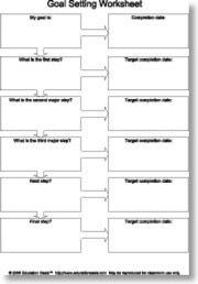 Graphic Organizer Goal Setting Worksheet  Imprims  Fournitures