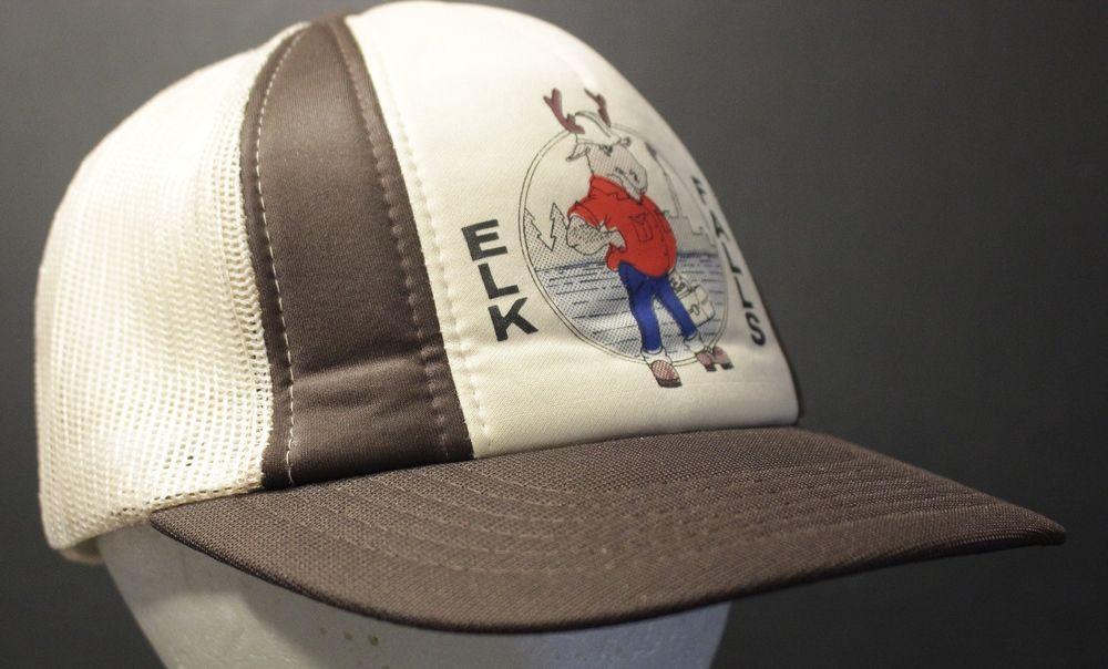 099e1095 Elk Falls Mesh Trucker Hat Cap British Columbia Canada Brown Snapback  Hipster #HaT #Trucker