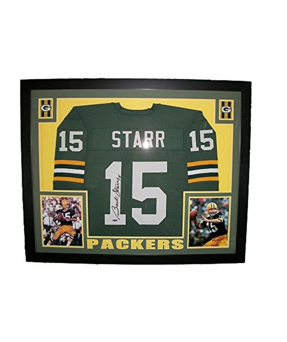 Certified Authentic Sports Memorabilia Bart Starr Framed Autographed Green Bay Packers Jersey Tristar Coa Green Bay Packers Jerseys Green Bay Green Bay Packers