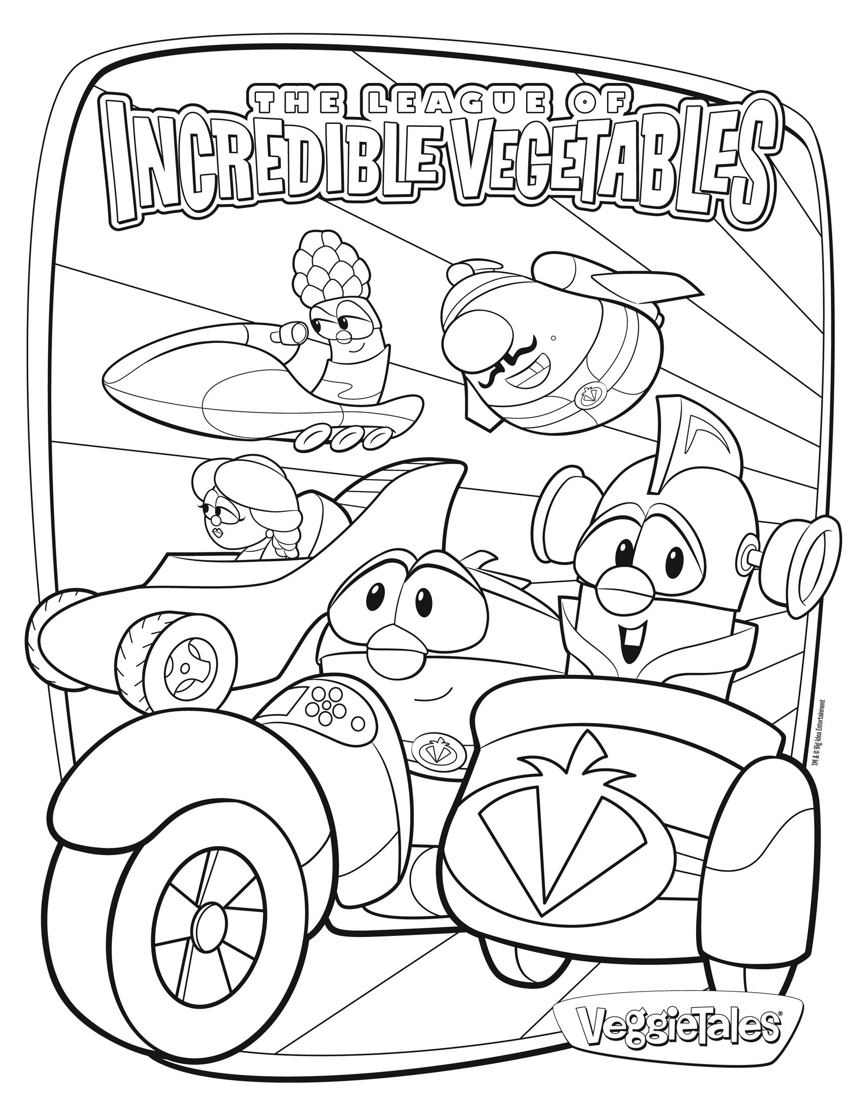 veggie tales coloring pages larryboy - photo#25
