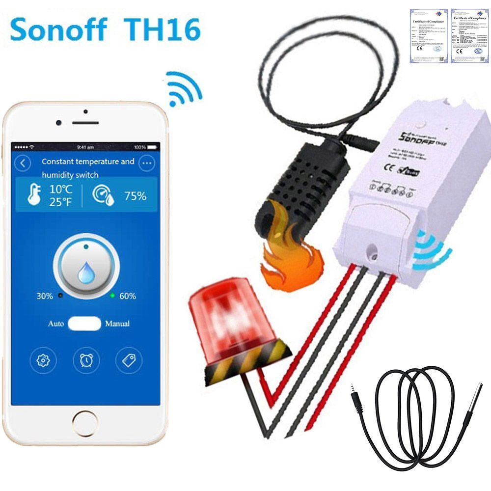 8 35 gbp sonoff th16 wireless remote control switch home automation kit works with alexa [ 1000 x 1000 Pixel ]