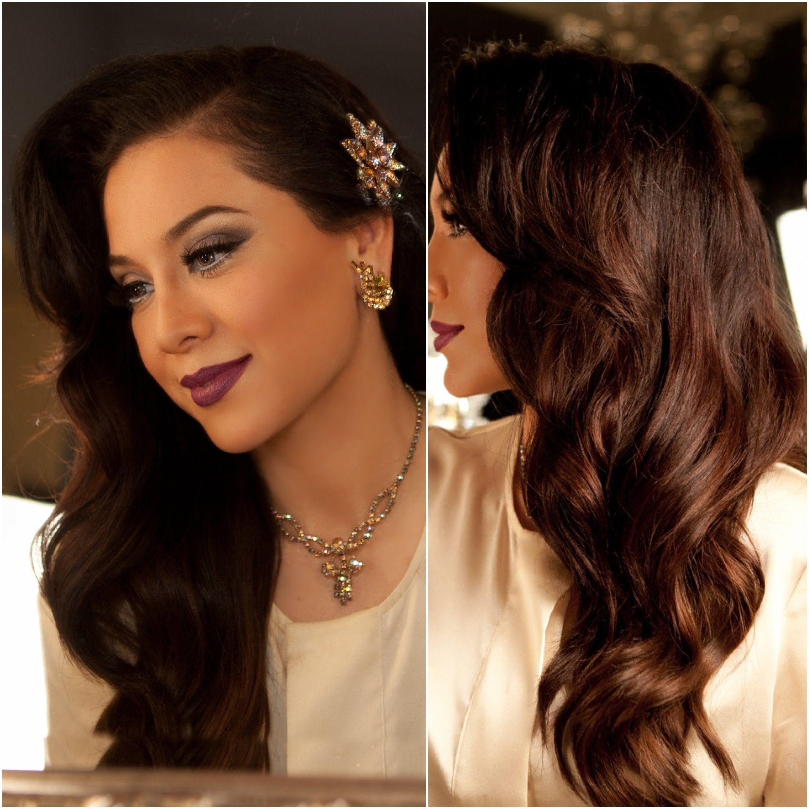 1940 S Inspired Hair Tutorial Old Hollywood Glamour Vegas Nay Cari Michelle Maybe I Should Have Wyatt Do Some Hollywood Hair Glamour Hair Long Hair Styles