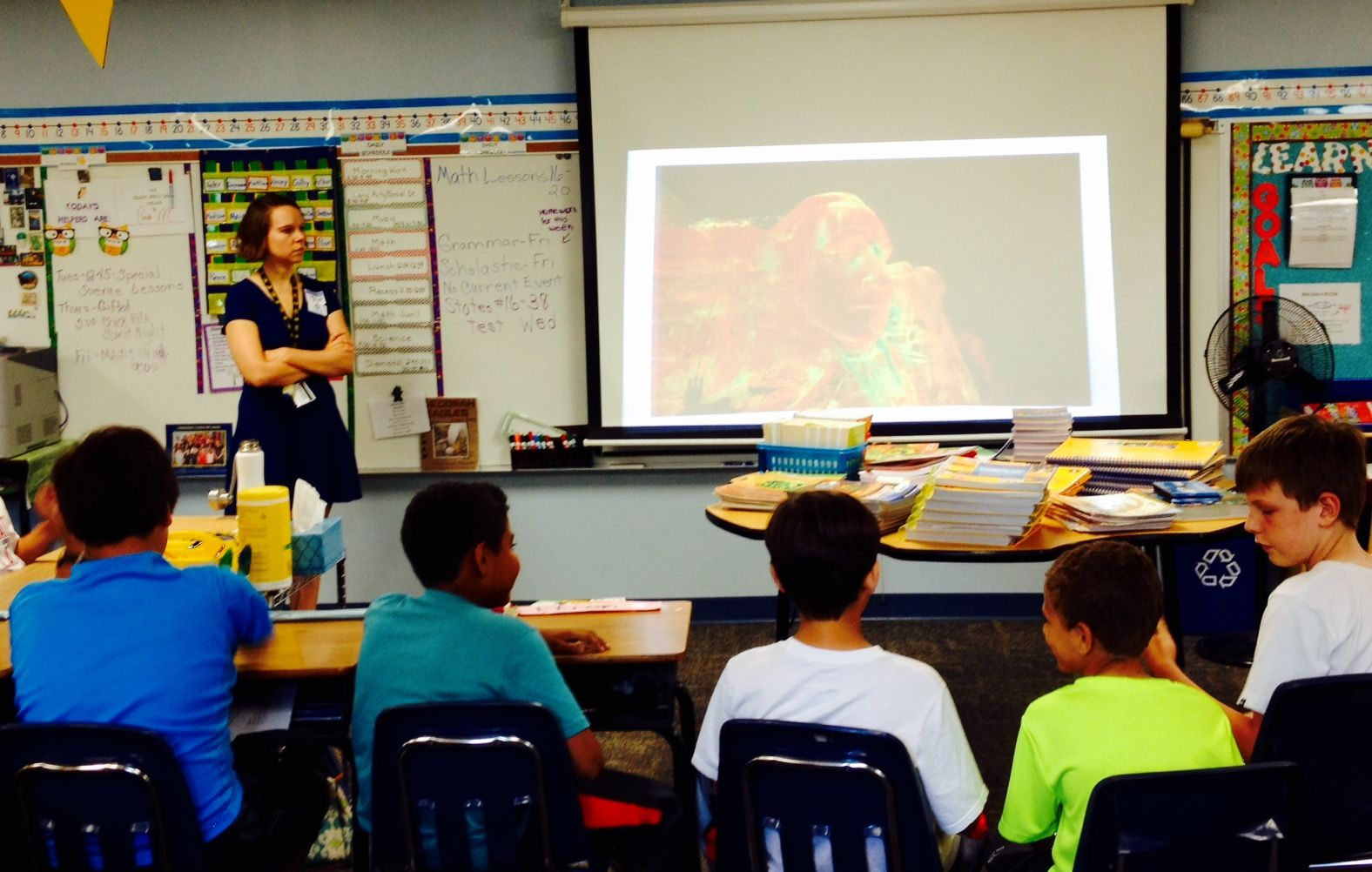 Our Senior Cadastral Mapper Dolly Carwile teaching a STEM
