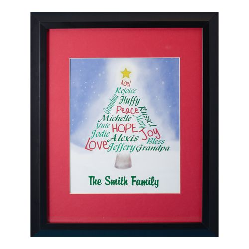 Personalized Family Christmas Tree Print