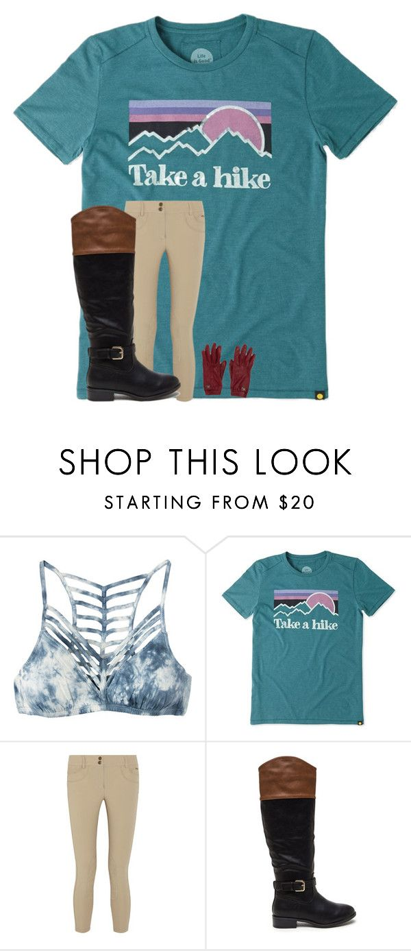 """""""horseback riding. @sophieisboss"""" by alyssadesgrange ❤ liked on Polyvore featuring RVCA, Life is good, Ariat and Burberry"""