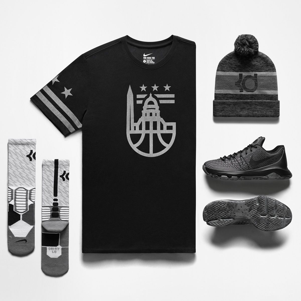 0822734948c1 Grab the Nike KD 8  Blackout  because the brightest stars shine in the  darkest spots.