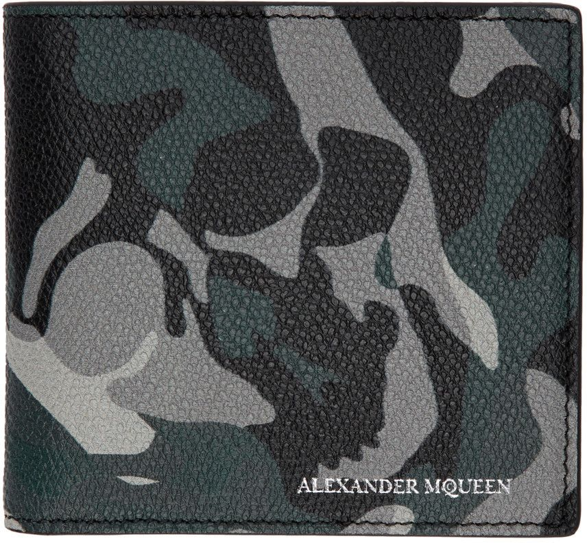 Alexander McQueen - Blue Camouflage Wallet