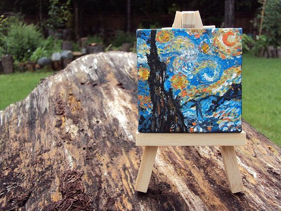 Famous Paintings on Mini Canvases Van Gogh by trinketsbydana, $23.00 #famous paintings monet canvases Your place to buy and sell all things handmade