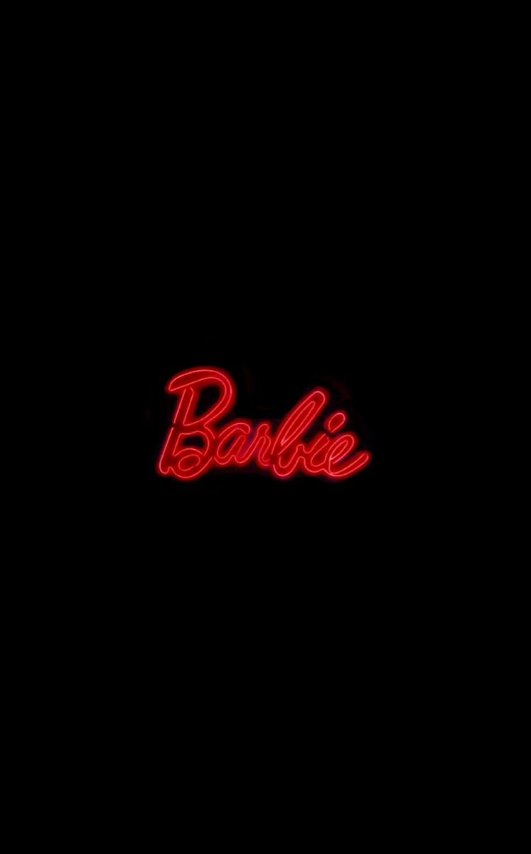 Neon Red Orange Barbie Sign Red Aesthetic Grunge Neon Aesthetic Red And Black Wallpaper