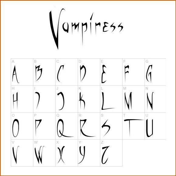 Pin by lenka drabe ov on tattoos pinterest journal for Spooky letter stencils