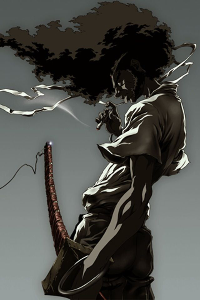 afro ninja from boondocks projects pinterest afro samurai
