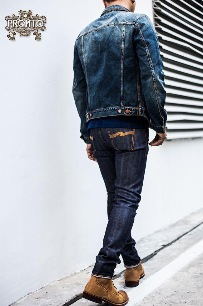 f36838dc283c PRONTO NUDIE JEANS Denim Jacket Fashion, Denim Jacket Men, Denim Jackets,  Mens Casual
