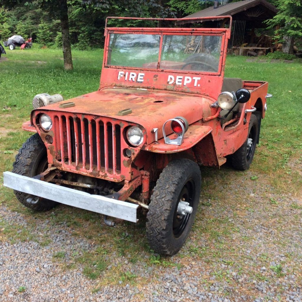 1943 willys mb fire jeep for restoration military for sale