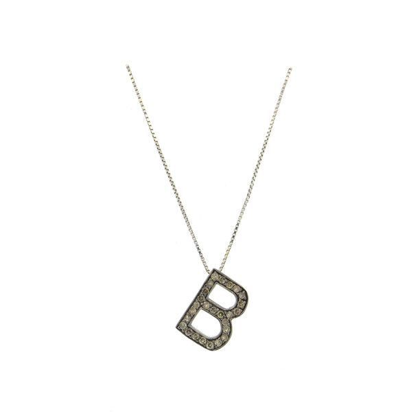 14k gold fancy diamond letter b charm pendant necklace 14k gold fancy diamond letter b charm pendant necklace mozeypictures Choice Image