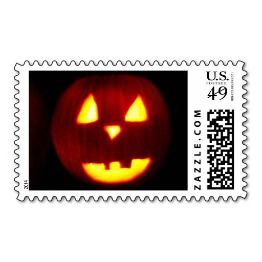 HALLOWEEN TRADITIONAL CARVED PUMPKIN stamp