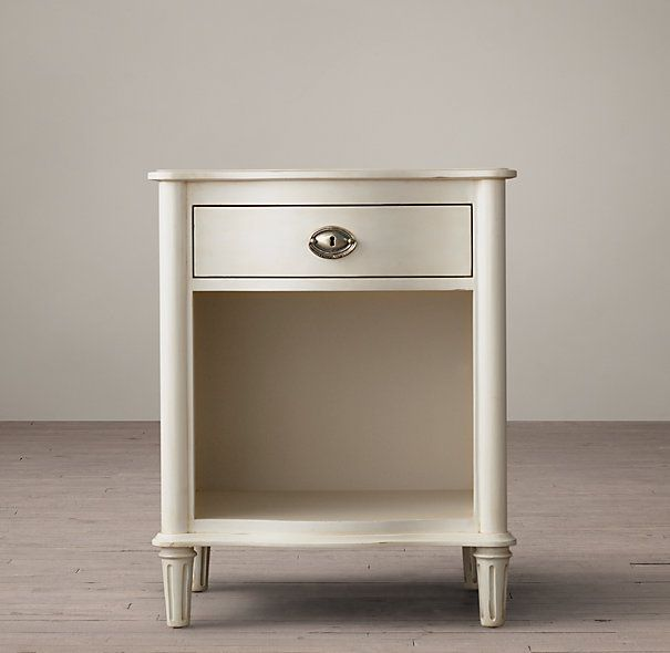 """Bedroom. 24""""W Empire Rosette Open Nightstand. Available in brown, black finishes."""