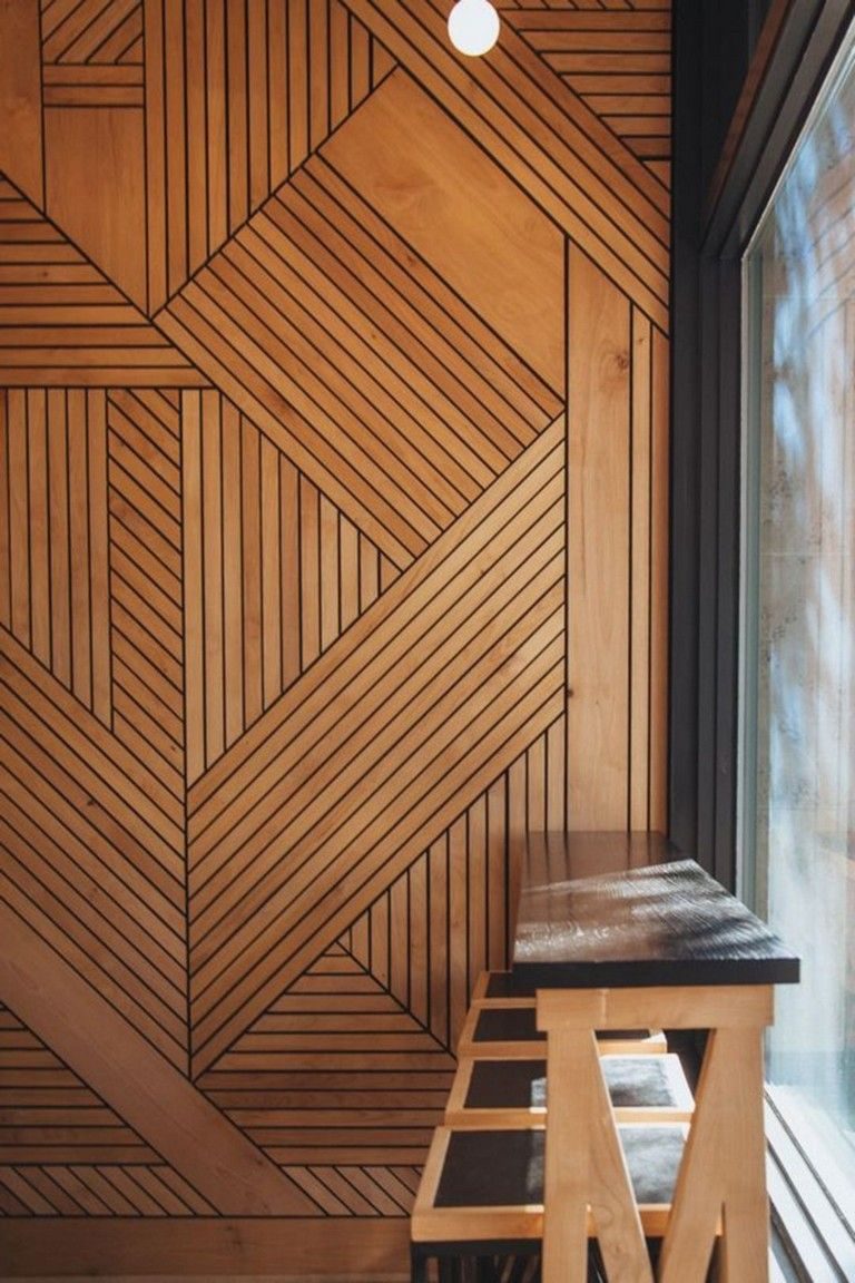 25 Stunning Wood Wall Covering Ideas For Amazing Home Interior Homedecorideas Homedecoraccessories Homede Wood Wall Covering Wall Design Wooden Wall Panels