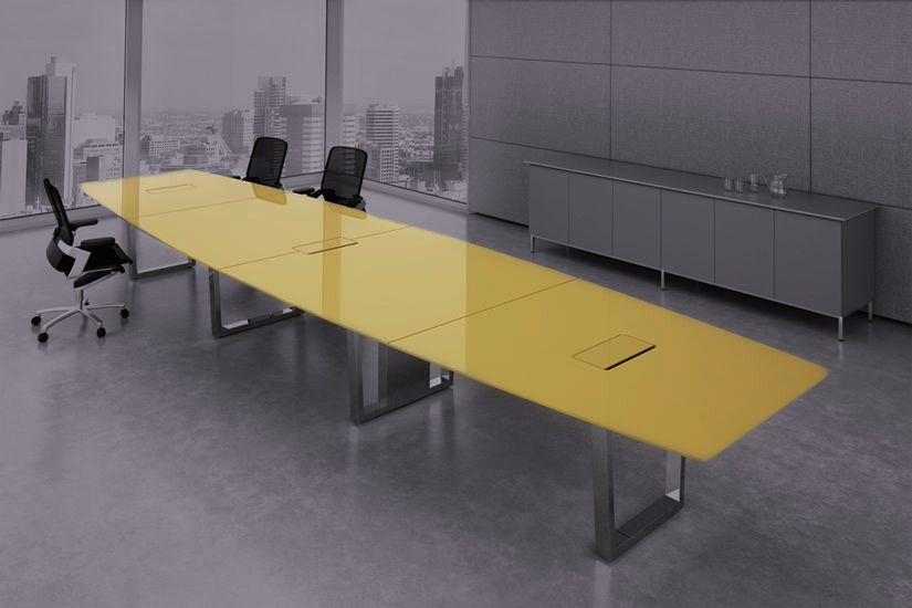 Large Glass Table Glass Conference Table Modern Conference