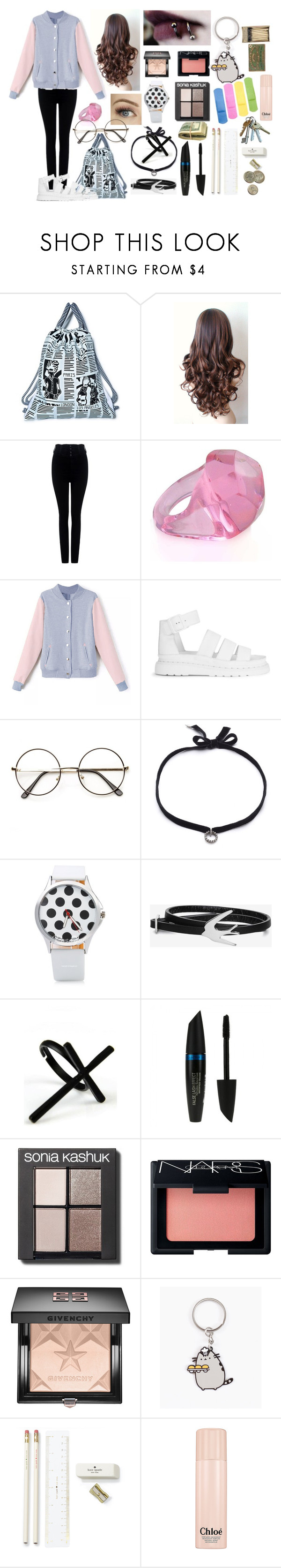 """""""Lets Burn The World..."""" by kayalexi ❤ liked on Polyvore featuring Joyrich, Citizens of Humanity, Dr. Martens, DANNIJO, McQ by Alexander McQueen, Emi Jewellery, Max Factor, Sonia Kashuk, NARS Cosmetics and Givenchy"""