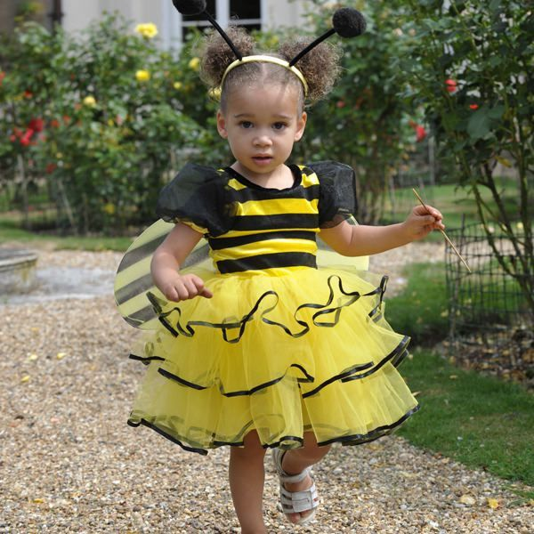 Kids Children/'s Lady Bug Bumble Bee Tutu Skirt Fancy Dress Halloween Costume