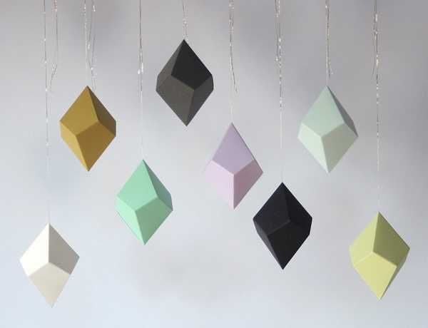 Creative Paper Crafts Handmade Geometric Ornaments For Christmas