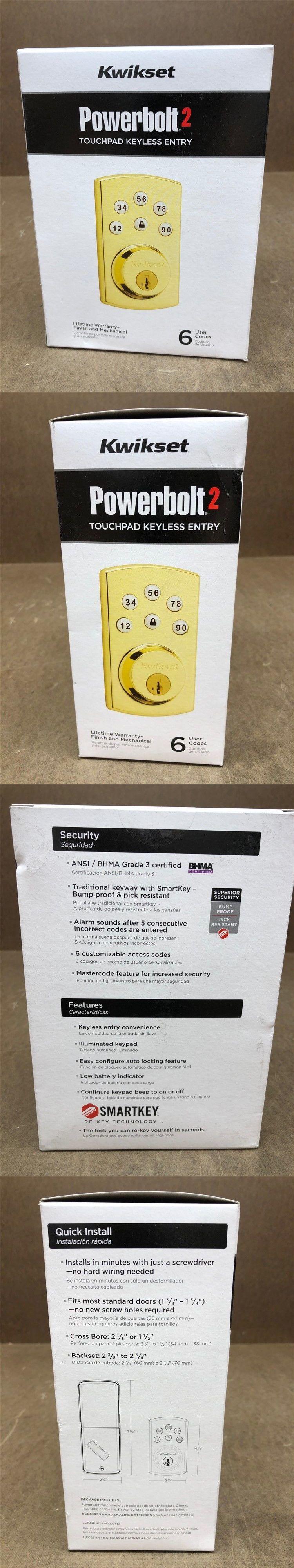 Door Locks and Lock Mechanisms 180966: Kwikset Powerbolt 2